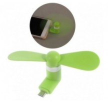 Mini ventilador para movil OTG micro usb verde