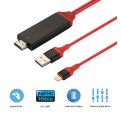 CABLE ADAPTADOR 8 PINES A HDMI TV AV 2M PARA IPHONE 7 6 IPAD 5 IPAD MINI HDTV