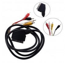 CABLE SCART EUROCONECTOR MACHO A 4 RCA MACHO DE 1,5 m. AUDIO VIDEO