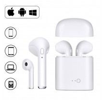 AURICULARES BLUETOOTH V4.2 +EDR TIPO AIRPOD MICROFONO INALAMBRICO UNIVERSAL SAMSUNG IPHONE i7S TWS