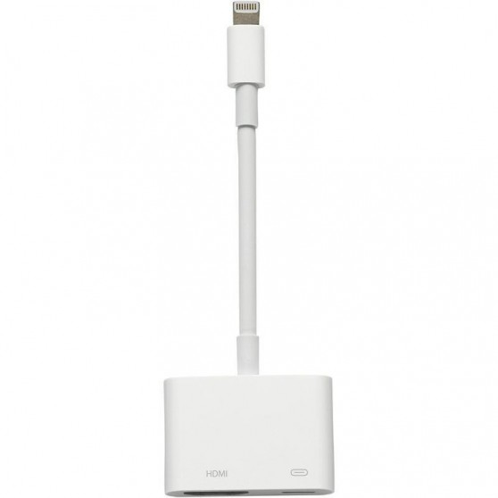 ADAPTADOR CONECTOR LIGHTNING AV DIGITAL HDMI MULTIPUERTO COMPATIBLE IPHONE APPLE