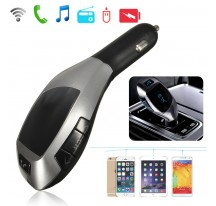 PRODUCTOR TRANSMISOR BLUETOOTH MP3 FM MECHERO COCHE VOLUMEN USB SD LED LCD