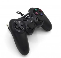MANDO GAMEPAD CON CABLE COMPATIBLE CON SONY PLAYSTATION PS4 PC WINDOWS NEGRO