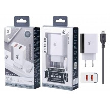 CARGADOR DE RED CABLE COMPATIBLE IPHONE 5/6/7/8/X 2 USB 2.4AMH CABLE LIGHTNING
