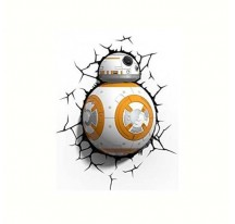 LAMPARA 3D LIGTH FX LED de PARED ROBOT BB 8 STAR WARS