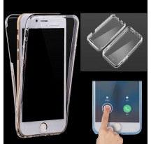 "FUNDA GEL TRANSPARENTE TAPA DELANTERA TACTIL Para IPHONE 7 4,7"" FLIP GEL COVER"