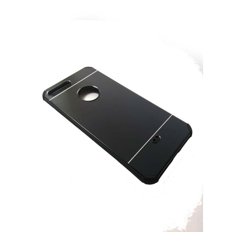 FUNDA TRASERA DE ALUMNIO PARA IPHONE 6 PLUS CON MARCO DE GEL ...