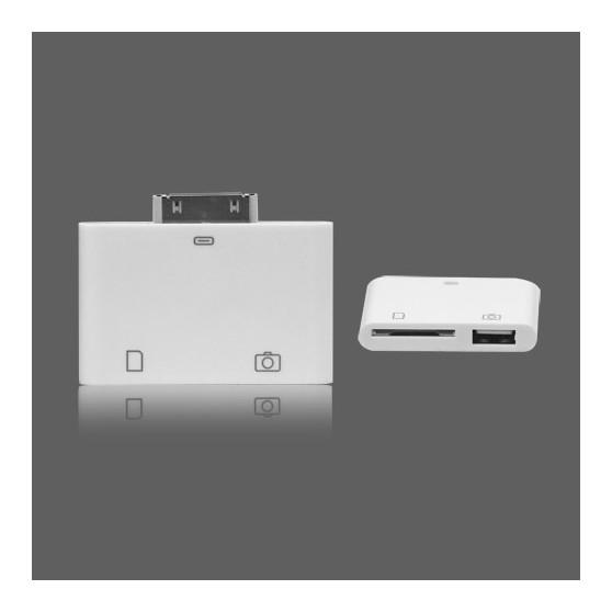 Lector de tarjetas SD 2 en 1 para iPhone 4 / 4s iPad 2