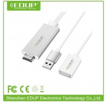 ADAPTADOR AV DIGITAL PARA IPHONE IPAD AIRPLAY TV HD CONEXION ULTRA RAPIDA EDUP