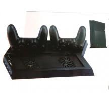 Soporte Base Ventilador Refrigeracion Consola Cargador para 2 Mando para PS4