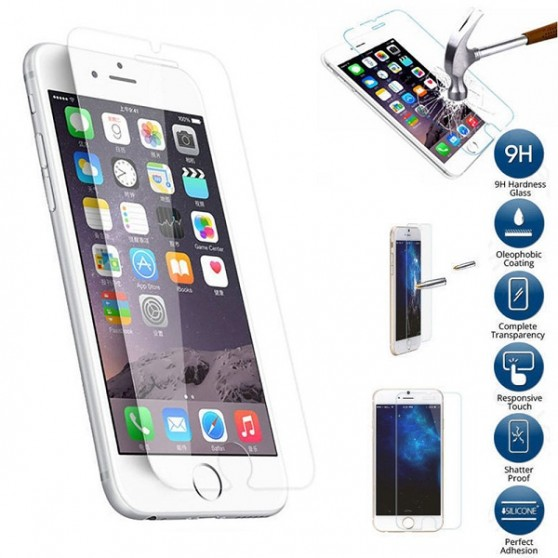 """PROTECTOR DE PANTALLA CRISTAL TEMPLADO PREMIUM para iPhone 7 PLUS DE 5,5"""" 2.5D 9H"""