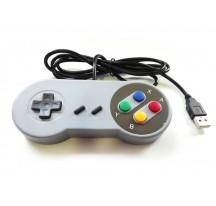 MANDO COMPATIBLE CON PC JOYPAD GAMEPAD CON CABLE USB ESTILO CLASICO RETRO PLUG & PLAY