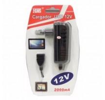 CARGADOR UNIVERSAL RED CASA USB HEMBRA 12V 2000MAH