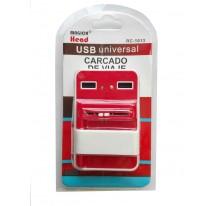 CARGADOR UNIVERSAL RED PARA CASA BATERIA + 2 USB PARA MOVILES Y CAMARAS 1000 mAh