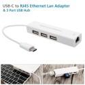 3 PUERTOS USB 2.0 ADAPTADOR DE LAN A LA RED DE CABLE ETHERNET RJ45 10 / 100MBPS