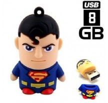 MEMORIA FLASH USB 8GB PENDRIVE SUPERHEROES BATMAN SUPERMAN SPIDERMAN