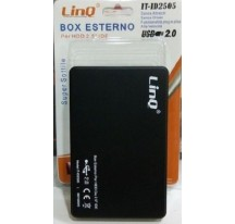 "CARCASA CAJA DISCO DURO EXTERNO HDD 2,5"" IDE ATA USB EXTERNA FUNDA CABLE NEGRO"