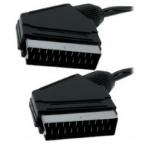 Euroconector 21 pins macho a macho de 3 m. negro