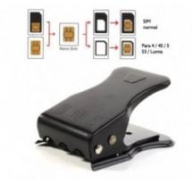 Cortador de tarjeta sim 3 en 1, sim / micro sim / nano sim